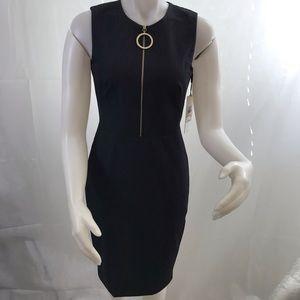 Calvin Klein women's zipper front sheath dress
